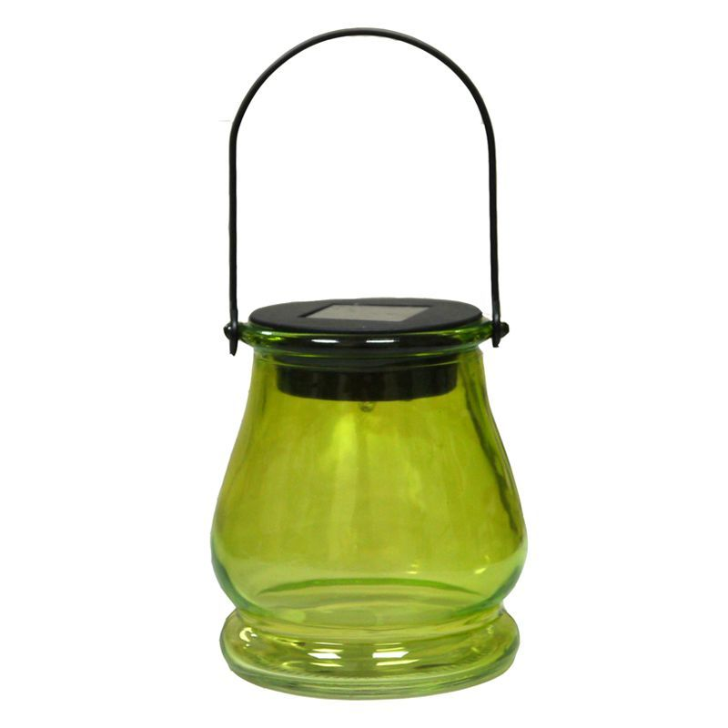 Bright Garden Hanging Jar Solar Light - Green