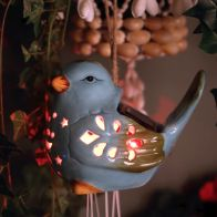 See more information about the Ceramic Bird Windchime Solar Light