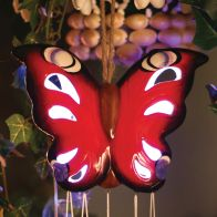 See more information about the Ceramic Butterfly Windchime  Solar Light