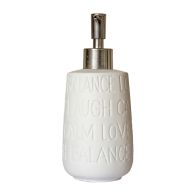 See more information about the Text Series Stoneware Ceramic Liquid Soap Dispenser