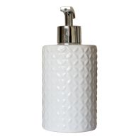 See more information about the Embossed Ceramic Glazed Liquid Soap Dispenser