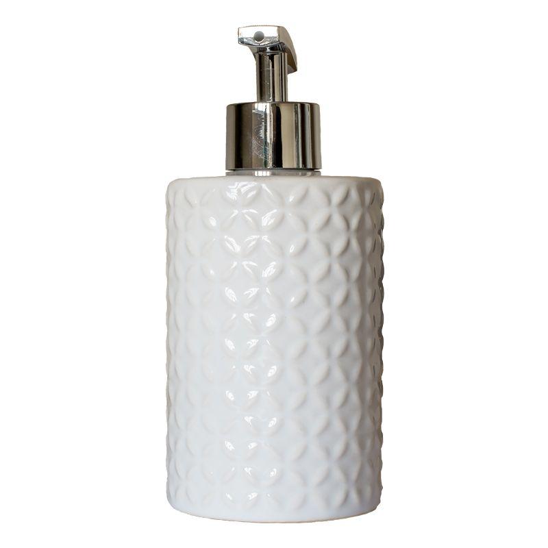 Embossed Ceramic Glazed Liquid Soap Dispenser Buy Online