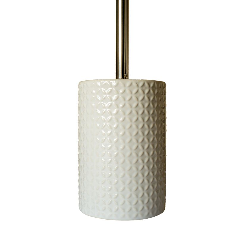 embossed ceramic glazed toilet brush holder buy online at qd stores. Black Bedroom Furniture Sets. Home Design Ideas