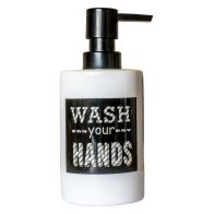 "See more information about the ""Wash Your Hands"" Ceramic Liquid Soap Dispenser"