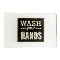"See more information about the ""Wash Your Hands"" Ceramic Soap Dish"