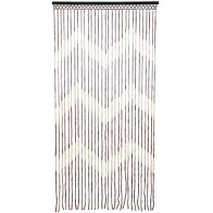 See more information about the Bamboo Beaded Door Curtain Chevron Pattern 90cm x 180cm