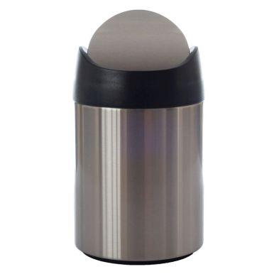 1.5L Stainless Steel Table Waste Bin