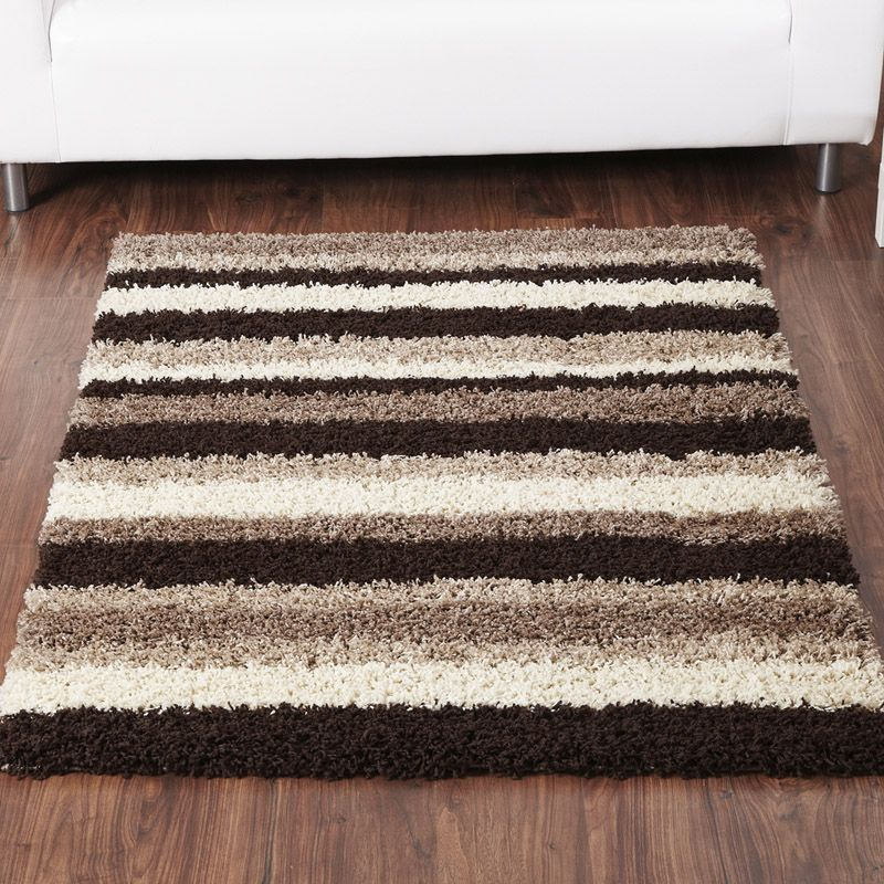 Rug Sienna Stripe Chocolate & Natural (80 x 150 cm)