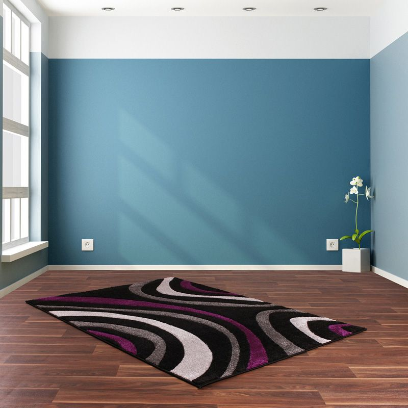 Rug Rapello Canyon Black & Lilac (75 x 150 cm)