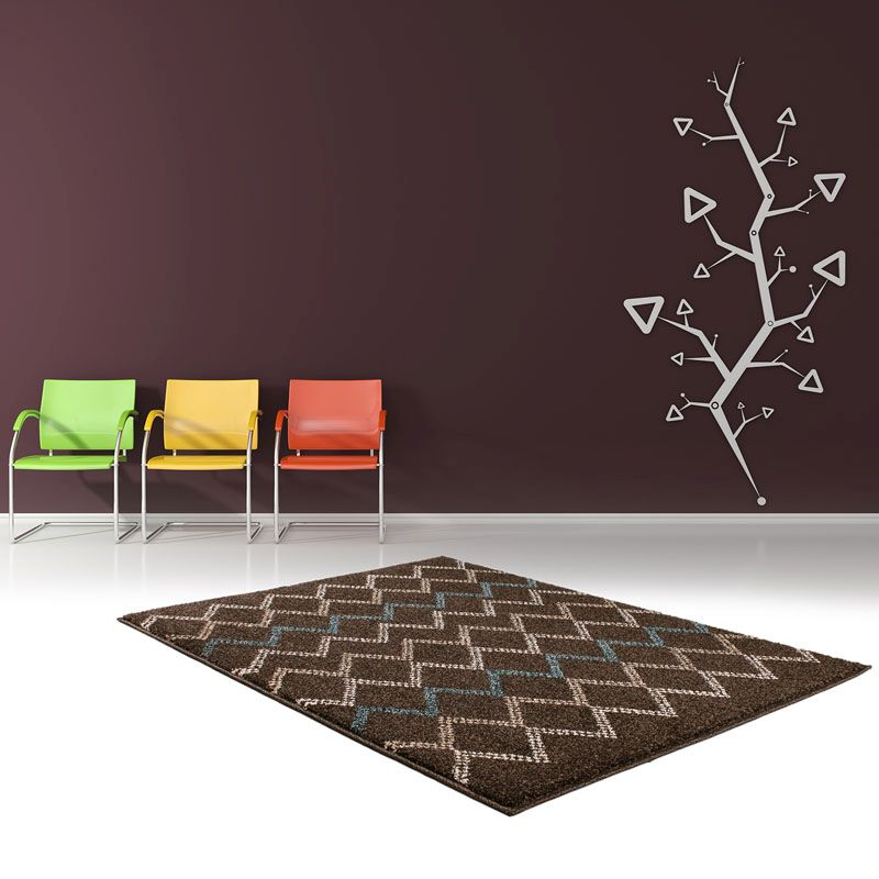 Rug Marrakesh Brown & Turquoise (80 x 150 cm)