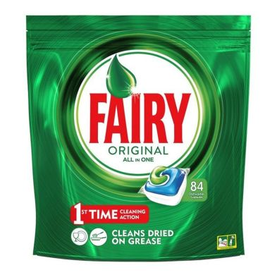 Image of 84 All In 1 Fairy Dishwasher Capsules