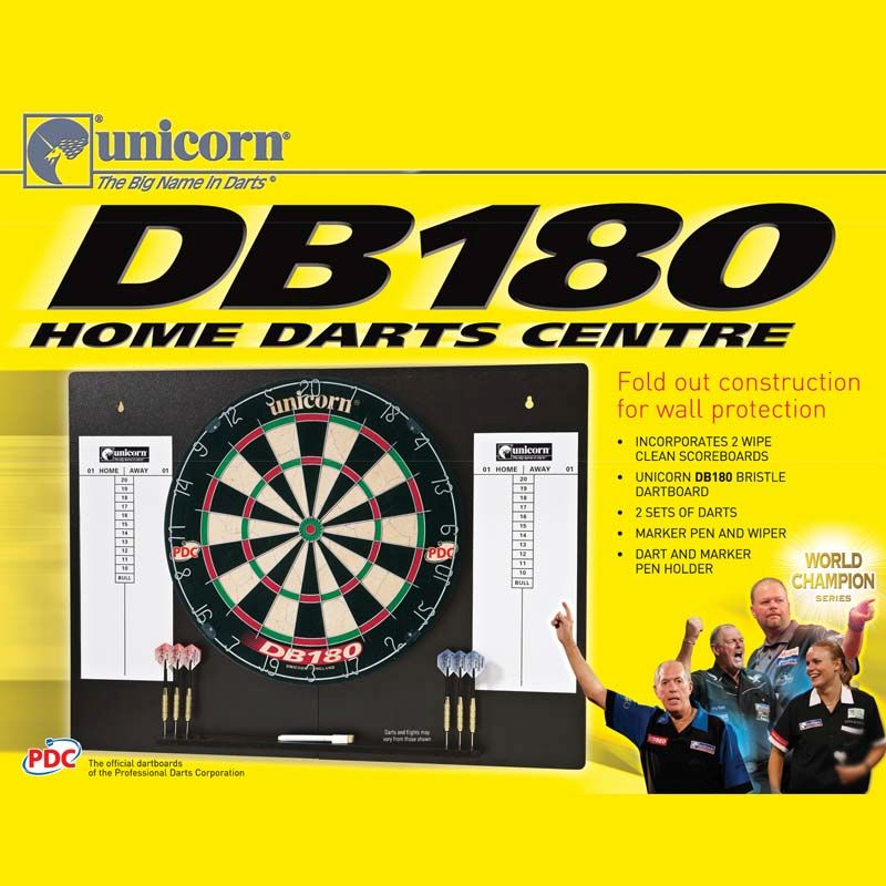 DB 180 Home Darts Centre-2 sets of Darts