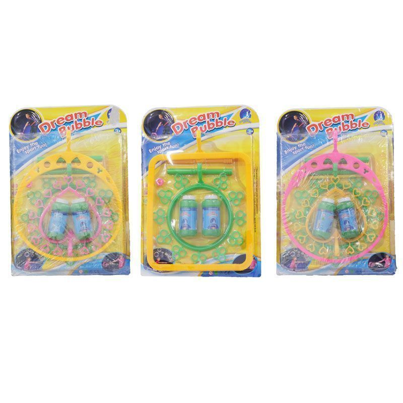 Giant Bubble Playing Set Outdoor Toy Pink Circle