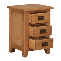 See more information about the Somerset 3 Drawer Bedside Table