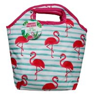 See more information about the Lunch Tote Beach Picnic Cooler Bag - Flamingo Design