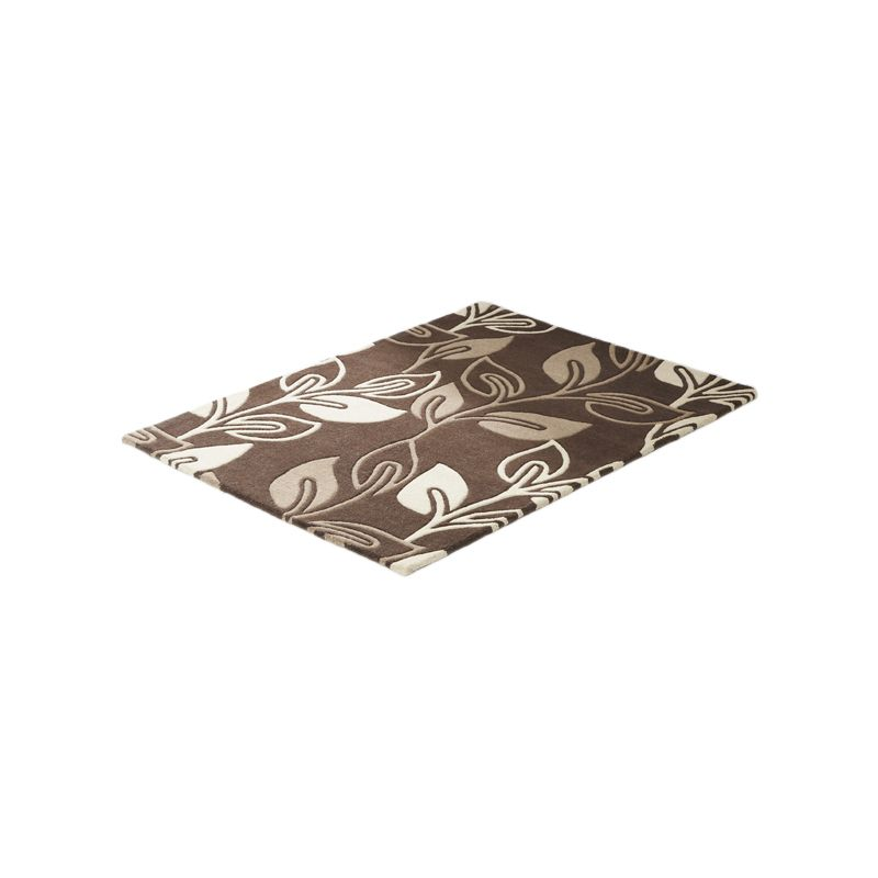 Rug Floral Art Retro Flower Chocolate (90 x 150 cm)