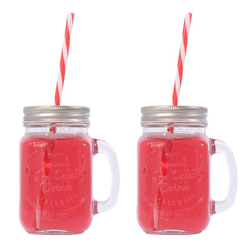 2 Pack of Mason Jars with Lids
