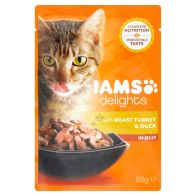 See more information about the Iams Turkey & Duck Cat Food in Jelly (85g)