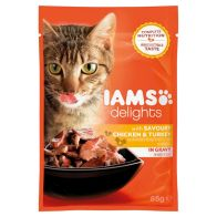 See more information about the Iams Chicken & Turkey Cat Food in Gravy (85g)