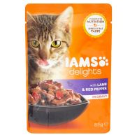 See more information about the Iams Lamb & Red Pepper in Gravy Cat Food (85g)