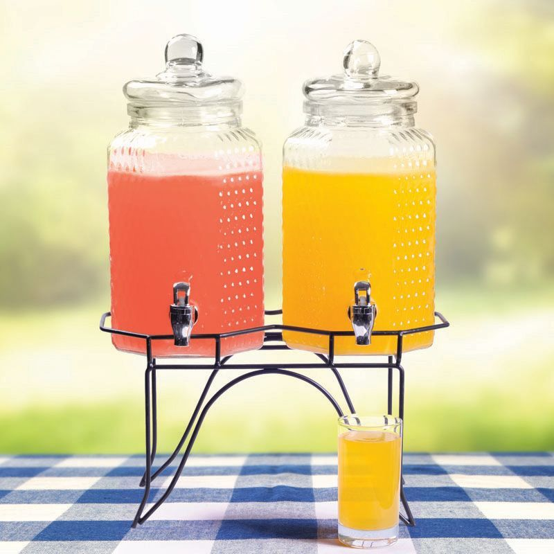 Twin Glass Drink Dispensers (3.8 Litre)
