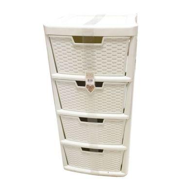135L Premier 4 Drawer Plastic Storage Tower Cream
