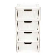 See more information about the 135L Premier 4 Drawer Plastic Storage Tower Cream