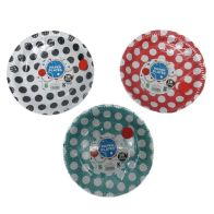 See more information about the 16 Pack of Paper Plates - Red with White Spots