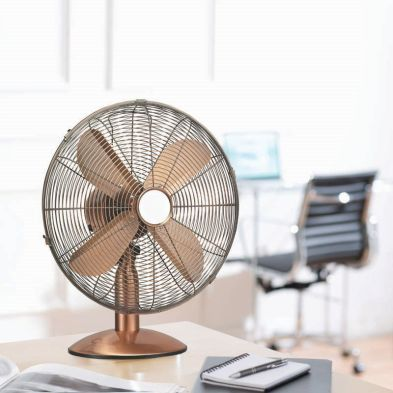 10 Inch Chromed Copper Desk Fan