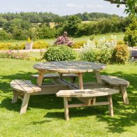 See more information about the Rose Round Garden Picnic Table