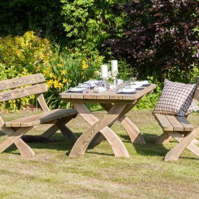 Harriet Table & 2 Bench Set
