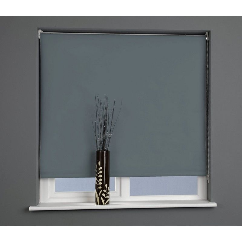 Charcoal 120cm Blackout Roller Blind