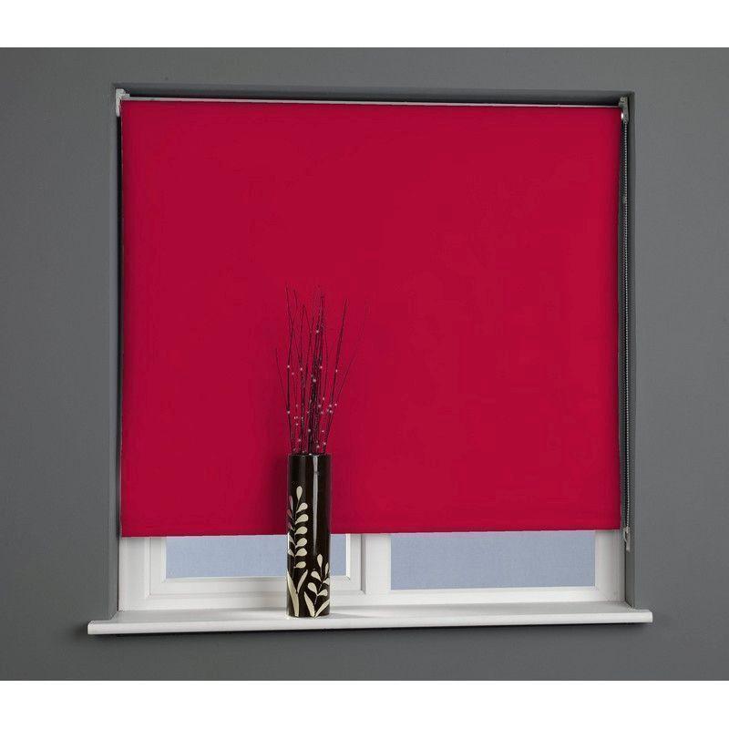 red 90cm blackout roller blind buy online at qd stores. Black Bedroom Furniture Sets. Home Design Ideas