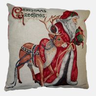 See more information about the Festive Christmas Cushions - Santa & Reindeer 2 for £10