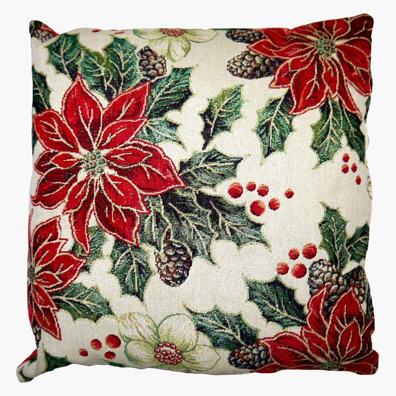 Festive Christmas Cushions Pointsetta Buy Online At Qd Stores