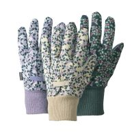 See more information about the Briers Triple Pack Plum Floral Cotton Grip Garden Gloves