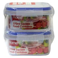 See more information about the 2 Pack 370ml Square Food Containers