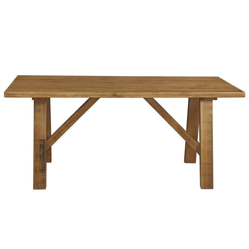 Dovetale oak trestle table 180cm x 90cm buy online at for Table design 90 cm