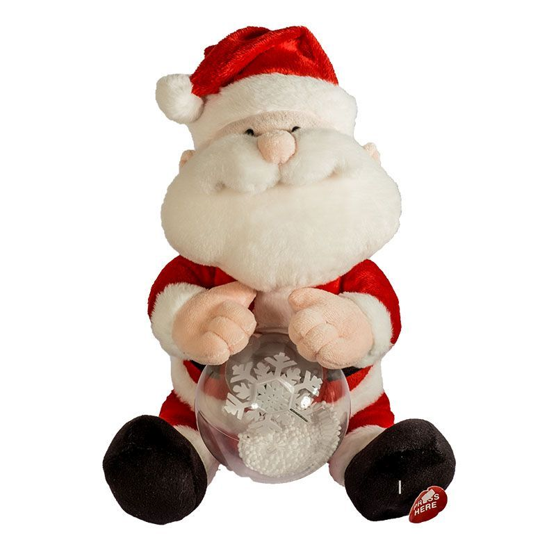 Animated Santa with LED Message Ball