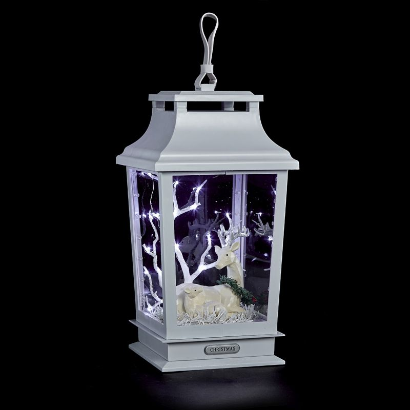 17inch Lantern with Reindeer