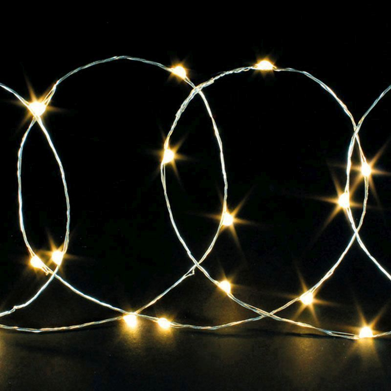 20 Bulb String LED Lights - Warm White - Buy Online at QD Stores