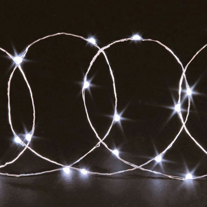 20 Bulb String LED Lights - White - Buy Online at QD Stores