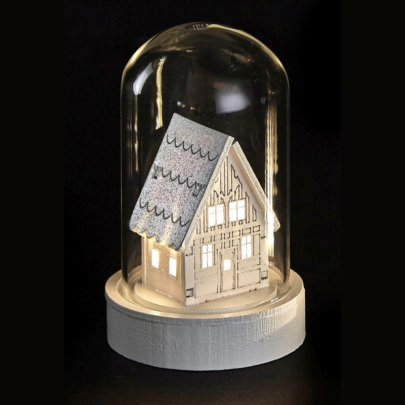 Warm White House LED Glassware Dome