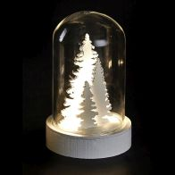 See more information about the Warm White Trees LED Glassware Dome