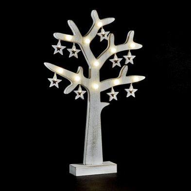 20 LED Bulb Tree Wood - Warm White