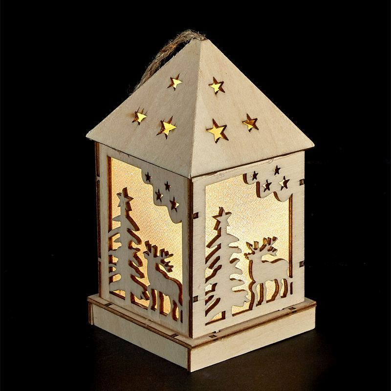 Small Wooden LED Lantern