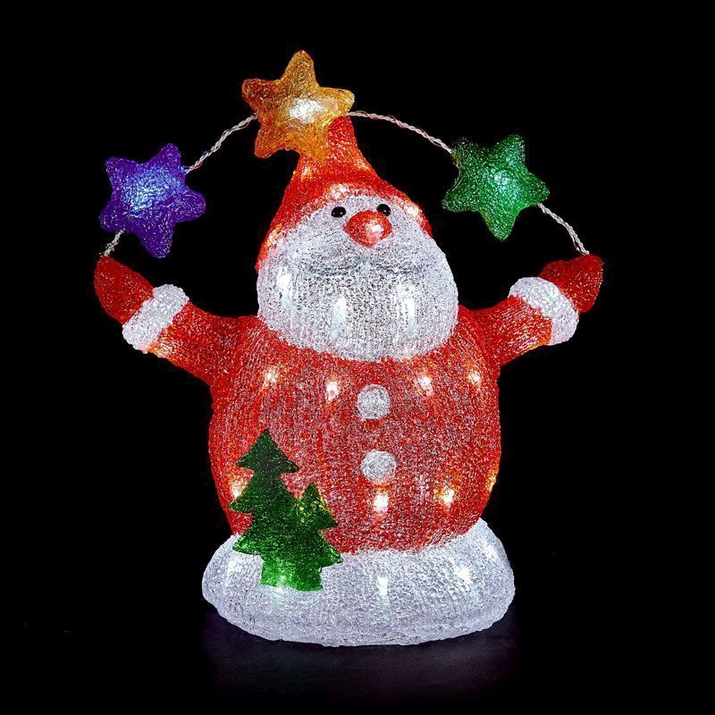 Acrylic 48 LED Light Santa Christmas Decoration