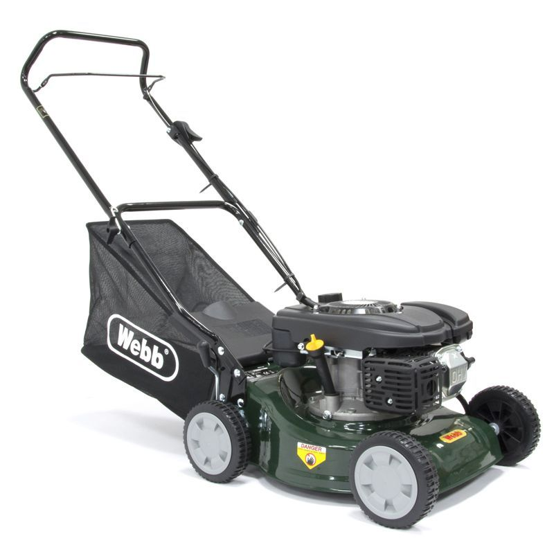 Webb Classic 118cc Push Petrol Lawn Mower 41cm With 50 Litre Collector