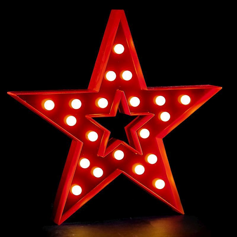 White LED Star Decoration