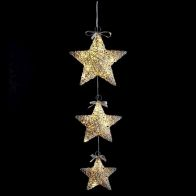 See more information about the 20 LED Warm White Indoor Hanging 3 Set Stars Christmas Lights Battery
